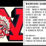 Warriors Weekend – Dec. 7/8