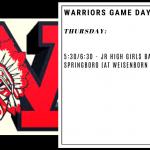 Warriors Game Day – Dec. 19