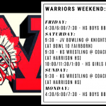 Warriors Weekend – Dec. 20-23