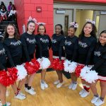 Wayne cheerleaders are festive at tonight's game!