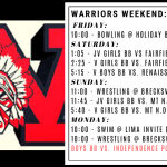 Warriors Weekend – Dec. 27-30