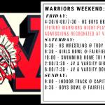 Warriors Weekend – Jan. 3-5