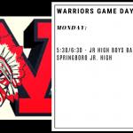 Warriors Game Day – Jan. 6