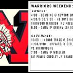 Warriors Weekend – Jan. 10-12