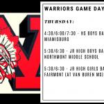 Warriors Game Day – Jan. 16