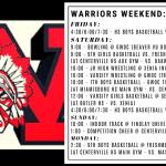 Warriors Weekend – Feb. 14-17