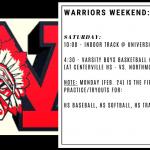 Warriors Weekend – Feb. 21-23
