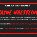 Five Wrestlers Advance To Districts