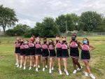 Middle school Cheer made their debut
