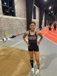 Indoor track team shines at Mt. Vernon meet- Shamaria Davis breaks school record in triple jump