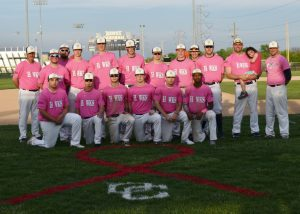 "Varsity Baseball vs Whiteland ""STRIKE OUT CANCER"" 4/25/17"