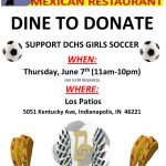 Dine & Donate for DCHS Girls Soccer 6/7