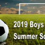 Boys Soccer Summer Training Schedule 2019