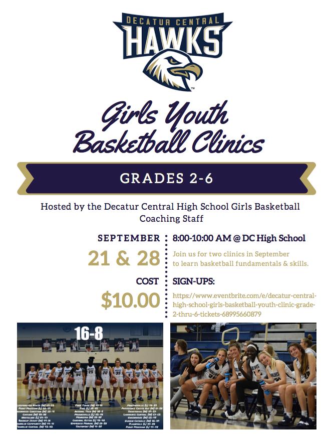 Girls Basketball Youth Clinic 9/21 & 9/28