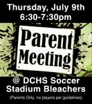 DCHS Girls Soccer – Summer Parent Meeting