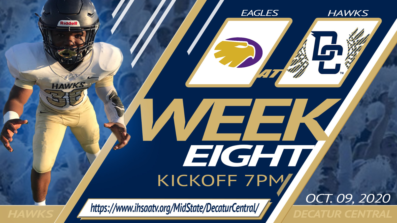 10/09/20- Decatur Central vs. Guerin Catholic- General Admission Tickets