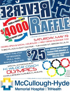 TONIGHT *Franklin County Athletic Boosters: Spring Social 6pm @ Third Place