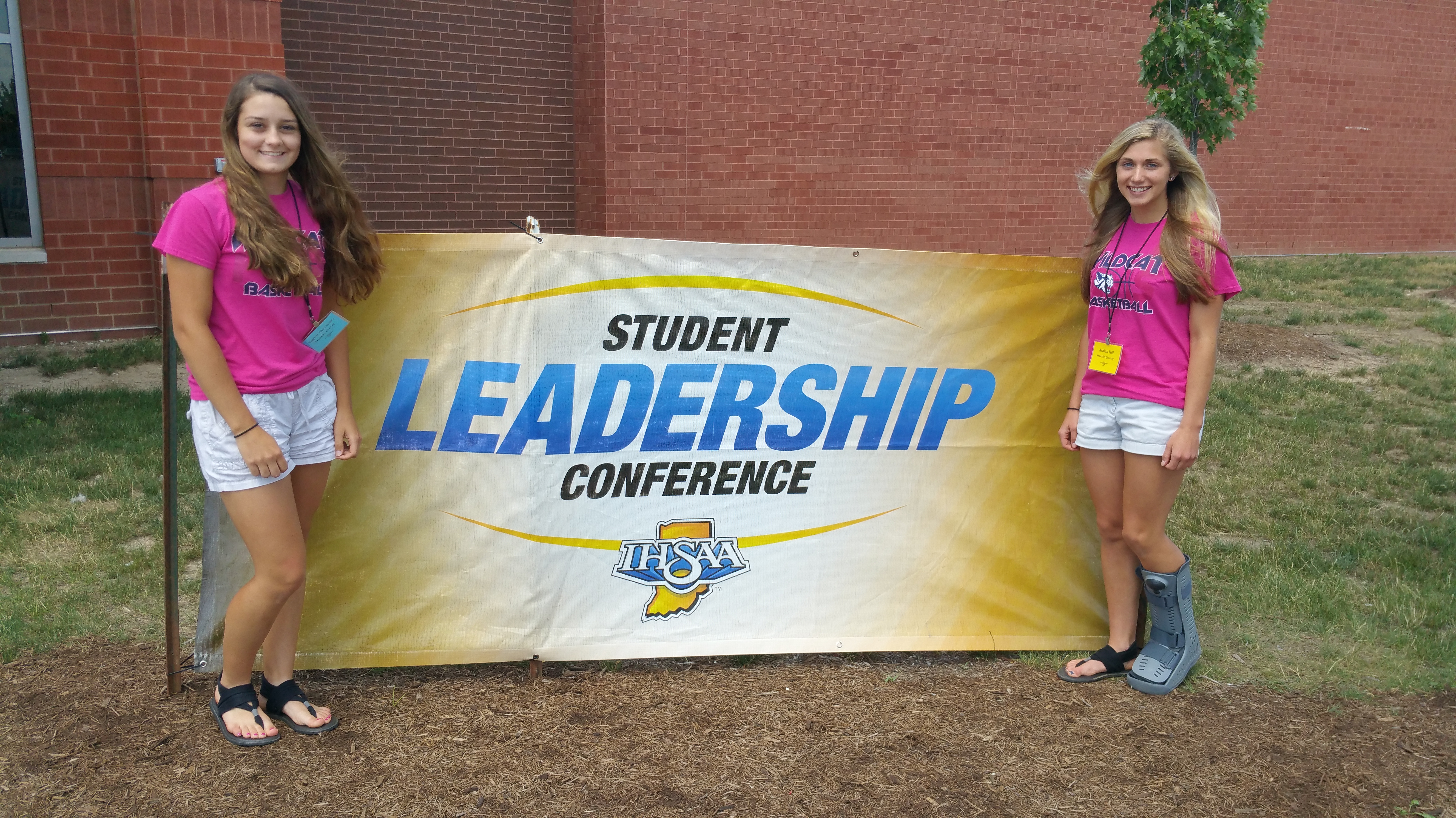Ashlan Hill and Taylor McCreary Participate in IHSAA Leadership Conference