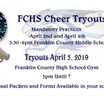 FC Cheer Tryout Information for 2019-2020 Season
