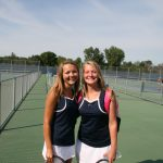 Saints Tennis wins 2 on Northern Trip