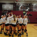 Varsity Volleyball beats Anoka in big Sections Match.