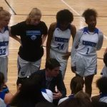 Centennial High School Girls Varsity Basketball beat Blessed Trinity High School 40-32