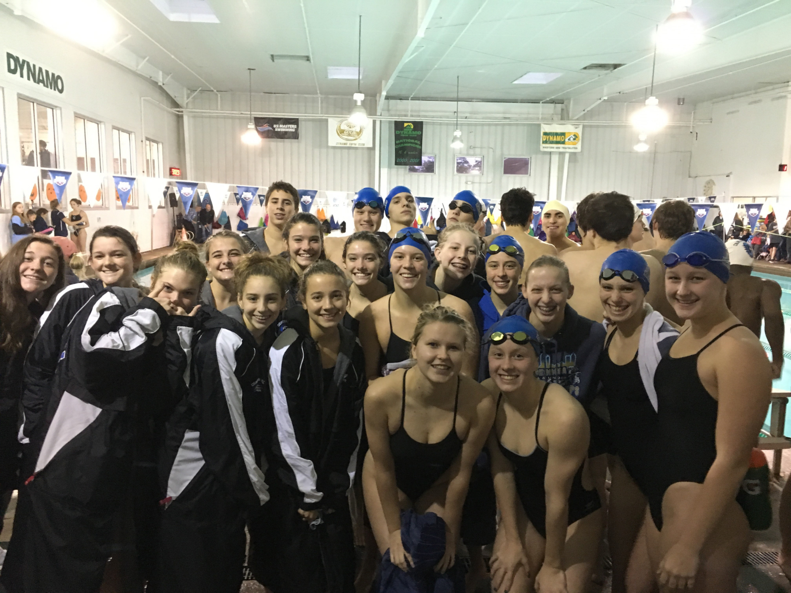 Girls Swimming takes down Cambridge and Hooch, Boys Finish 2nd