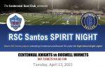 Centennial Soccer's First RSC Santos Spirit Night