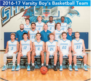 Boys Varsity Basketball 16-17