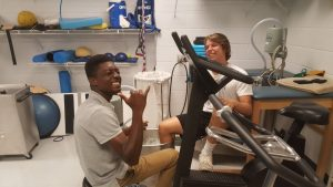 Varsity Football Players Physical Training