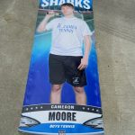 Congrats to senior tennis player Cameron Moore on an outstanding tennis career for your Sharks!