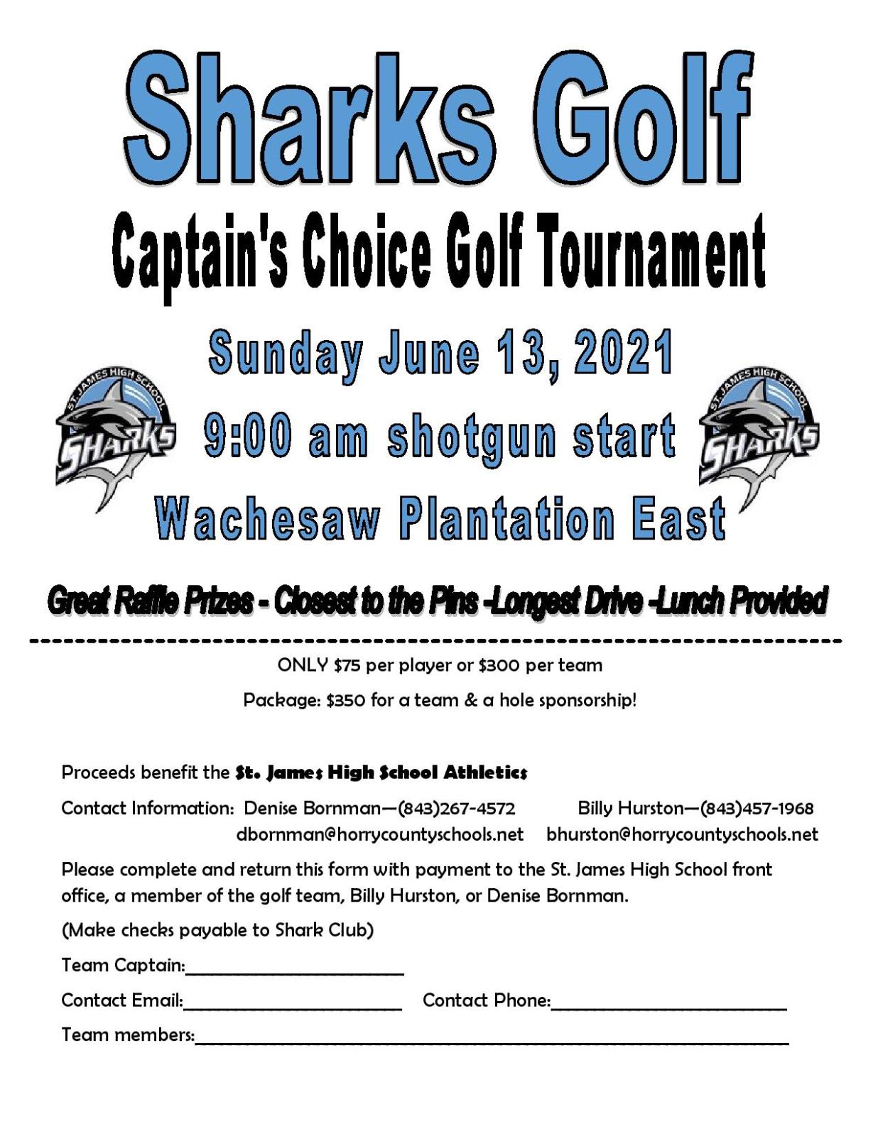 Sharks Golf Tournament