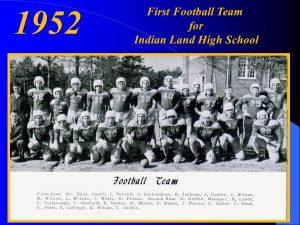 1952 Football Team