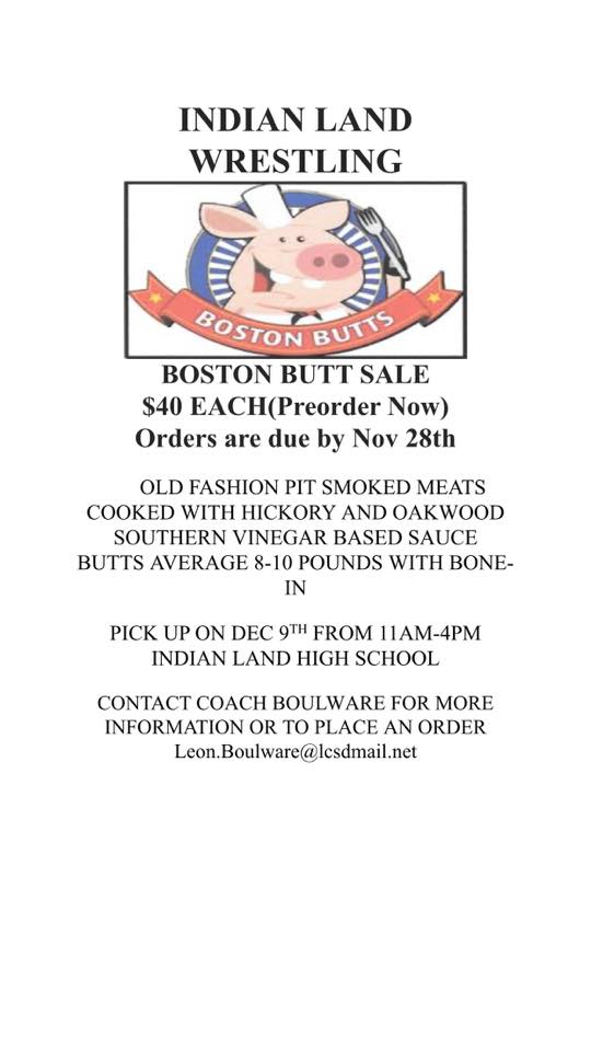 Wrestling is selling Boston Butts for $40 Pre Order by November 28th