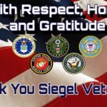 Siegel Athletics Honors Our Veterans and All Veterans