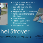 Rachel Strayer Signs with Carson Newman University