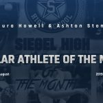 Siegel Scholar Athletes of the Month – August 2019