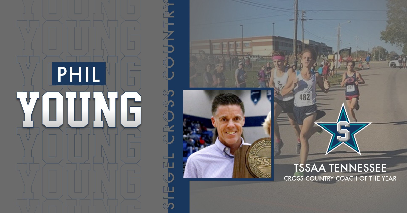 Coach Phil Young Selected as TSSAA Cross Country Coach of the Year