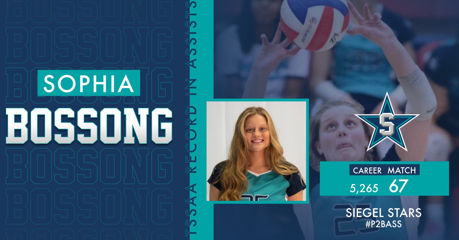 Sophia Bossong Sets State Records in Volleyball