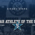 Siegel Scholar Athletes of the Month – October 2019