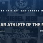 Siegel Scholar Athletes of the Month – November 2019
