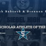 Siegel Scholar Athletes of the Month – January 2020