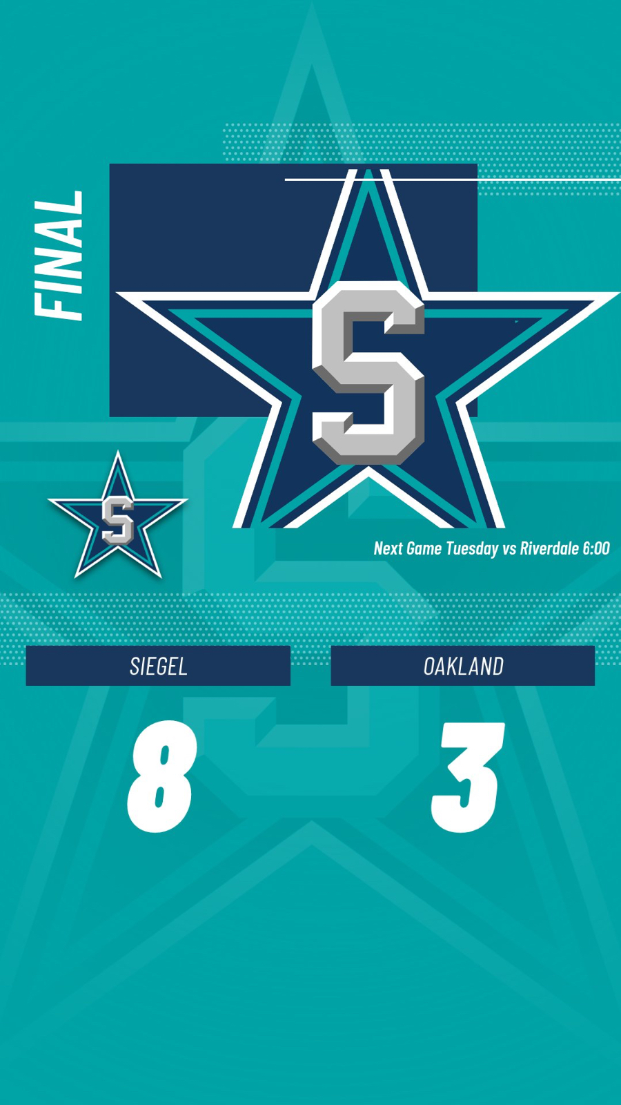 Siegel Lady Stars Take Victory Over Oakland
