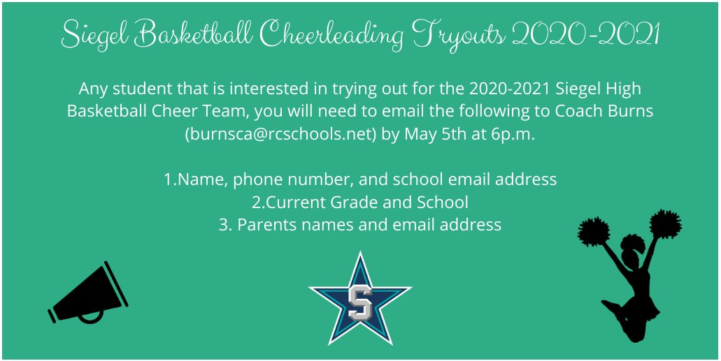 Basketball Cheer Tryout Information