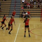LaPorte High School Girls Varsity Volleyball beat Plymouth High School 3-2