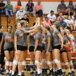 LaPorte High School Girls Varsity Volleyball beat Merrillville High School 3-0