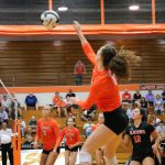 LaPorte High School Girls Varsity Volleyball beat Portage High School 3-0