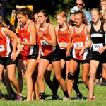 LaPorte High School Girls Varsity Cross Country finishes 4th place