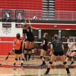 LaPorte High School Girls Varsity Volleyball beat Portage High School 3-2