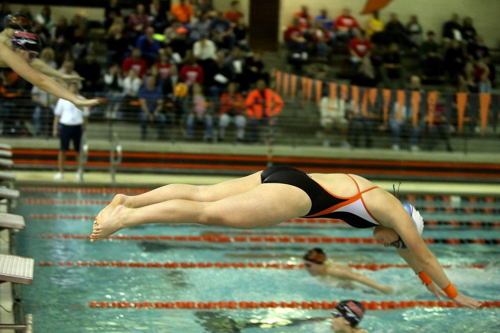 Girls Varsity Swimming beats Wheeler 113-62
